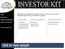 click to view sample report investor